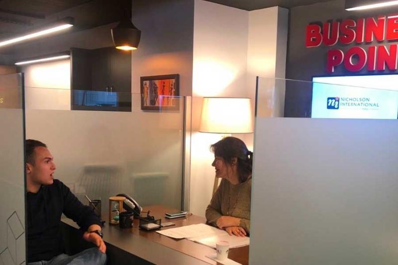 """The partner of Nicholson International Ms. Burcu Küçükcumalı was hosted as a full day guest in """"CO-OP Business Point"""""""